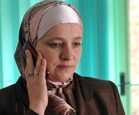 Amra Babić je prva žena s mahramom na glavi koja je izabrana političku poziciju u BiH. [AFP]
